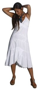Lirome short dress White Embroidered Bohemian Nautical Chic on Tradesy