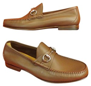 Gucci New Oak Textured Leather Horsebit Frame Men's Loafers 7 Us 8 $795