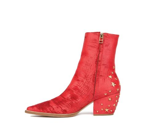 Matisse Kate Bosworth Leather Western Charlotte Stars Red Boots