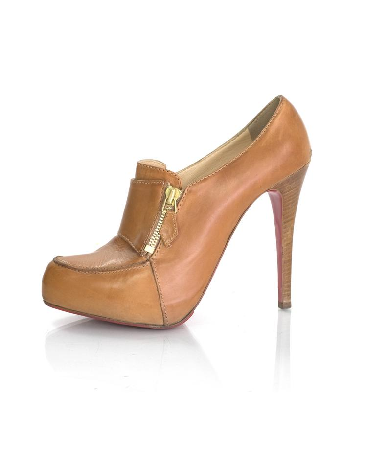 Christian Louboutin Tan Leather 38.5 38.5 Leather Boots/Booties 635152