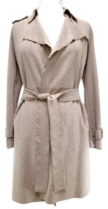 Harris Wharf London Classic/Modern Sweater/Trench Flattering All Season Travel Trench Coat