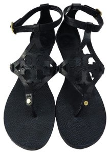 Tory Burch 2015 Sandal Leather Black Wedges