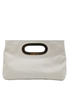 MICHAEL Michael Kors Python Embossed Cream Clutch