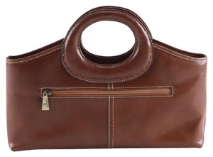 Cellini Leather Tote in brown