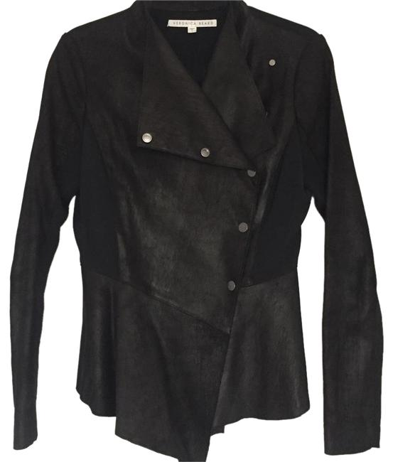 Item - Black Drape Asymmetrical Moto Jacket Size 4 (S)