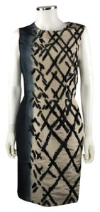 Oscar de la Renta short dress Beige with Black Details on Tradesy