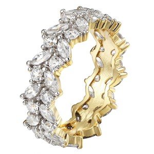 Other Solitaire Eternity Engagement Band 14k Gold Finish 925 Silver Marquise
