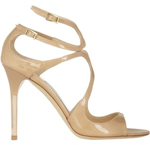 Jimmy Choo Heels Patent Leather nude Pumps
