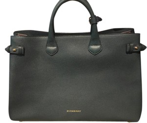 Burberry Brand New Banner Large Satchel in Green