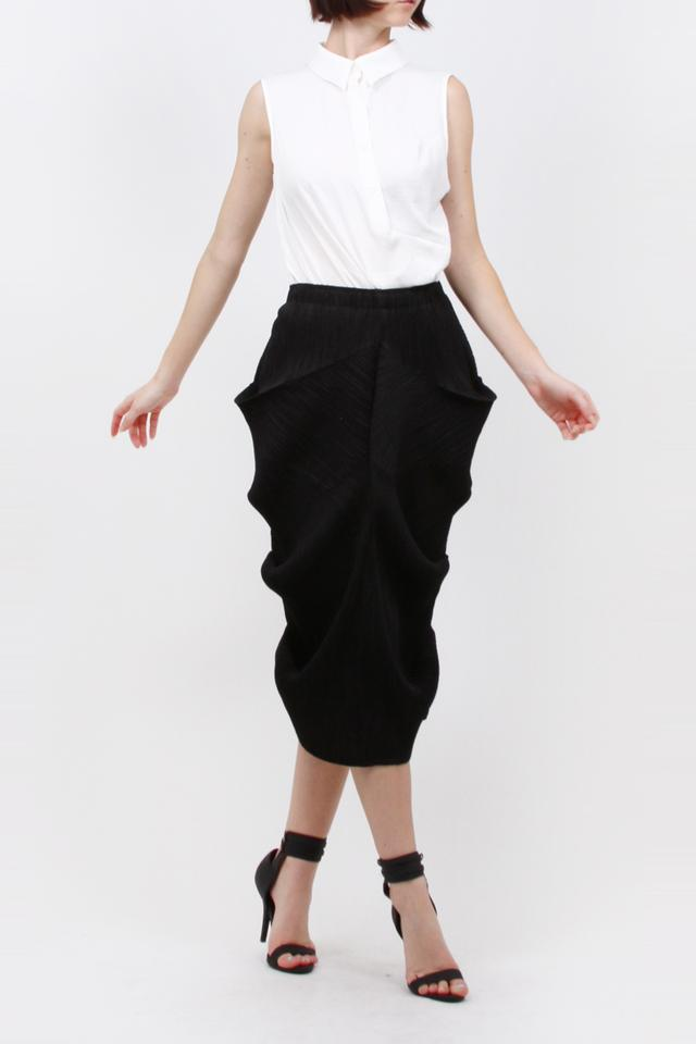 ff58b8598 Black Ruffle Pleated Inspired By Pleats Please Of Issey Miyake Skirt ...