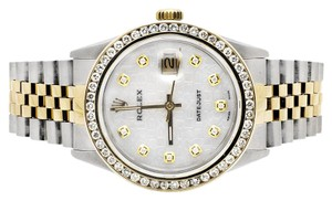 Rolex Rolex Datejust 2 Tone 18k Gold Jubilee Band Diamond Watch 3.5Ct