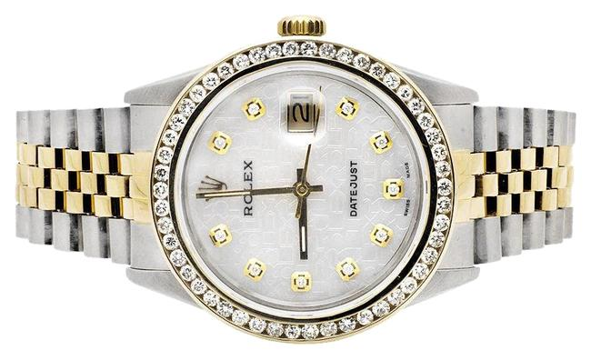 Rolex Stainless Steel 18k Gold Datejust 2 Tone Jubilee Band Diamond 3.5ct Watch Rolex Stainless Steel 18k Gold Datejust 2 Tone Jubilee Band Diamond 3.5ct Watch Image 1
