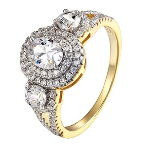 Other Wedding Engagement Womens Ring Solitaire Halo Design 14k Gold