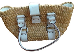 The Limited Tote in Neutral, white