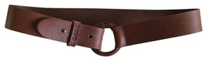 Ralph Lauren Leather Belt with Woven Buckle