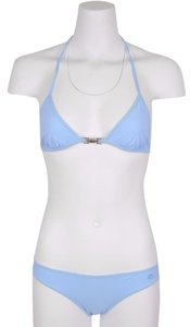 Gucci NEW Gucci Women's 371648 Light Blue Jersey Piston Lock GG Bikini S