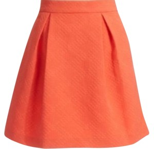 Trina Turk Pleated Spring Skirt Orange