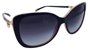 0066d2252d8a Tiffany   Co. Tiffany   Co Two Tone Black and Pink Gold Hearts Sunglasses TF