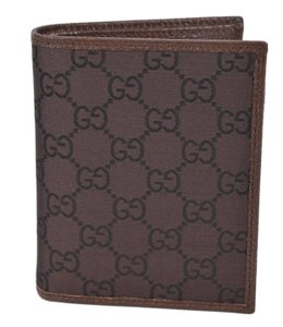 Gucci New GUCCI 292533 Men's Brown & Mahogany Canvas GG Guccissima Wallet