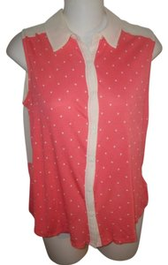 50fa5d6073 Kimchi Blue Sleeveless Button Down Shirt White and Pink