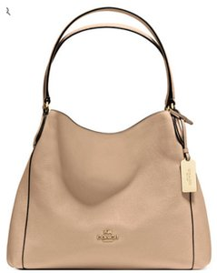 d01aa863ce Beige Coach Shoulder Bags - Up to 90% off at Tradesy