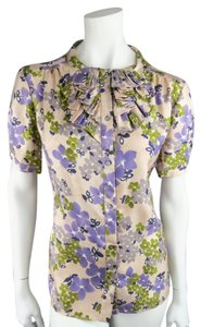 Barneys New York Floral Pink Top