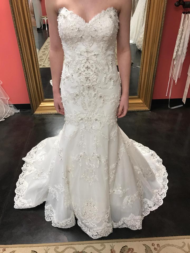Sottero and Midgley Ivory Keagan Feminine Wedding Dress Size 14 (L ...