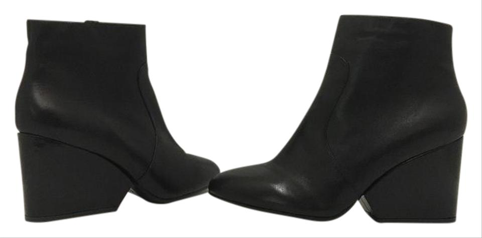 d626750f89fe Robert Clergerie Black Leather Women s High Heel Ankle Boots Booties ...