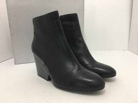 Robert Clergerie Wedge High Heels Ankle Zip Black Leather Boots Image 11