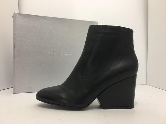 Robert Clergerie Wedge High Heels Ankle Zip Black Leather Boots Image 2
