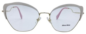 Miu Miu Distant White and Pink Cat Eye Miu Miu Eyeglasses VMU 54P 54