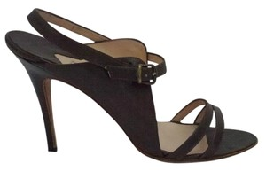 Manolo Blahnik Leather Chocolate Brown Sandals