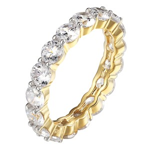Other Solitaire Eternity Engagement Band Wedding Promise Ring Women 14k Gold