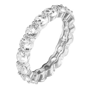 Other Eternity Wedding Ring Solitaire Simulated Diamonds Bridal Promise Band