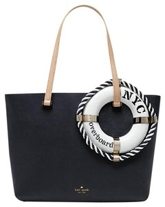 Kate Spade Expand Your Horizons Life Preserver Overboard Francis Tote in Navy