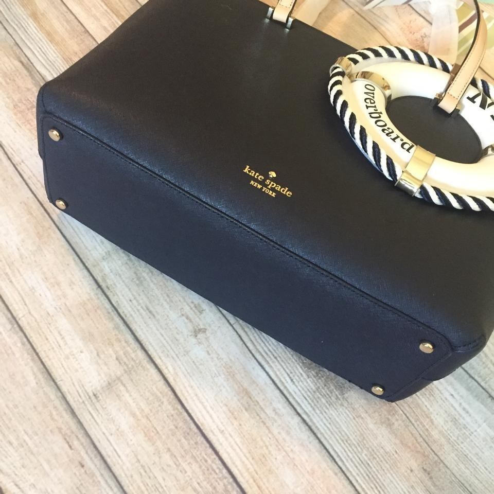 3fd590648516f1 Kate Spade Expand Your Horizons Life Preserver Overboard Francis Tote in  Navy Image 10. 1234567891011