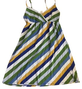 Merona short dress blue green and white on Tradesy