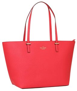 Kate Spade Cedar Street Saffiano Leather Tote in Red