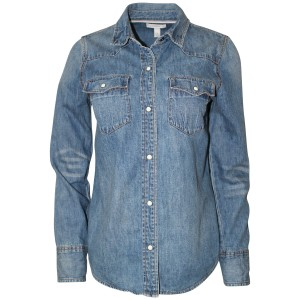 J.Crew Shirt Cotton Pockets Western Button Down Shirt Denim