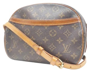 Louis Vuitton Leather Canvas Gold Hardware Logo Cross Body Bag