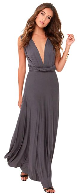 Item - Dark Gray Exclusive Tricks Of The Trade Maxi Style 168010 Long Formal Dress Size 8 (M)