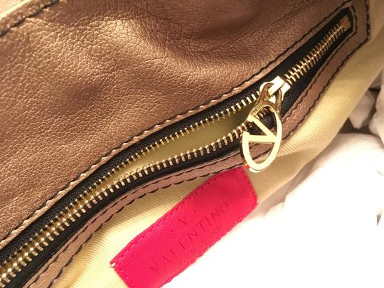 Valentino Histoire Patent Leather Satchel in Gold Image 6