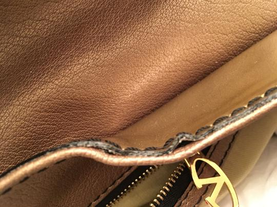 Valentino Histoire Patent Leather Satchel in Gold Image 9
