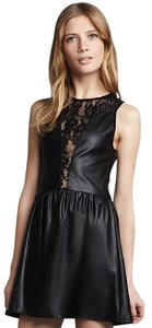For Love & Lemons Leather Edgy Lace Summer Dress