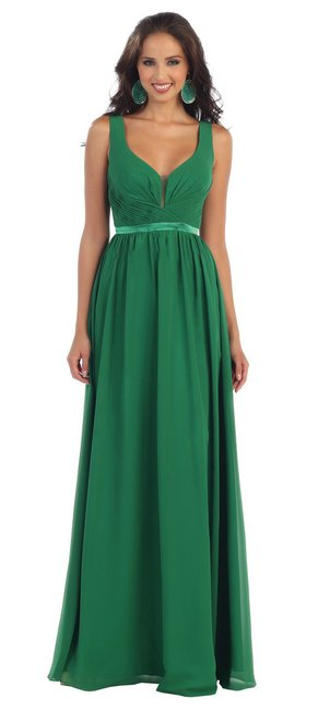 Item - Emerald Green Gown Long Formal Dress Size 6 (S)