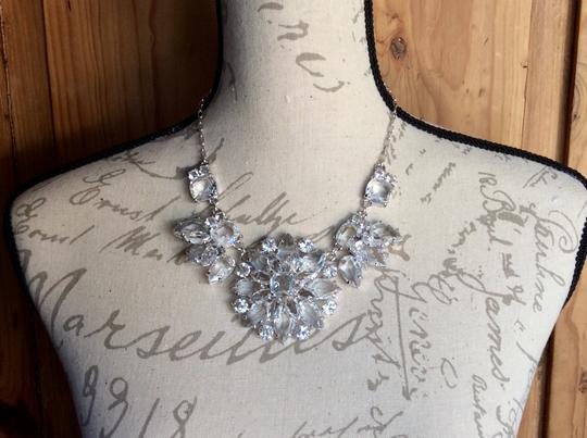Kate Spade AMAZING CRYSTAL GRAND FLORAL STATEMENT NECKLACE IN SILVER Image 2