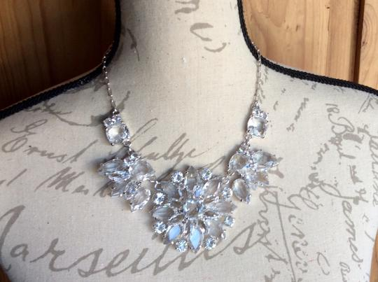 Kate Spade AMAZING CRYSTAL GRAND FLORAL STATEMENT NECKLACE IN SILVER Image 3
