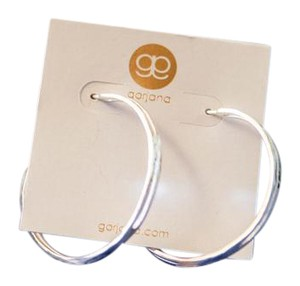 Gorjana sterling silver hammered split hoop earrings