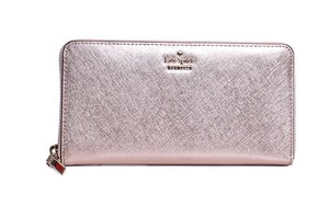 Kate Spade Kate Spade Cameron Street Rose Gold Saffiano Leather Lacey Wallet