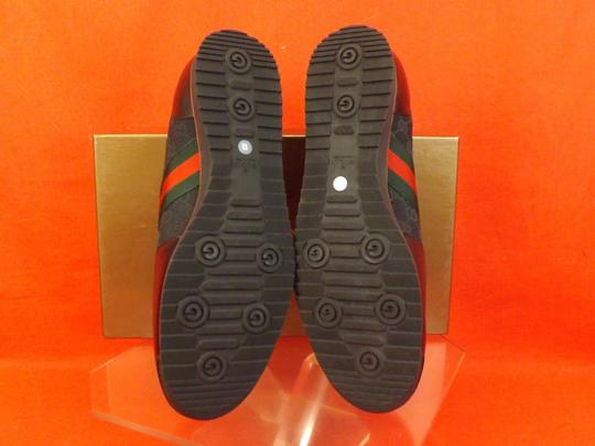 Gucci Black Mens Guccissima Canvas Leather Strip Sneakers 14.5/ 15.5 237715 Shoes Image 2